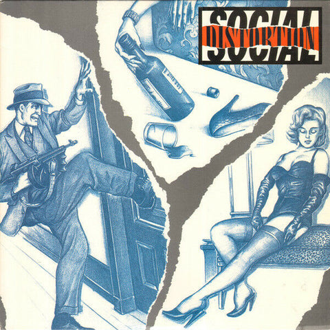 Social Distortion - s/t (LP, blue and silver swirled vinyl)