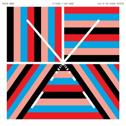 PREORDER - Touche Amore - 10 Years 1000 Shows (2xLP, Transparent Red w Black Splatter / Transparent Blue w Pink Splatter)