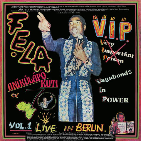 Fela Kuti & Afrika 70 ‎– V.I.P. Vagabonds In Power: Live In Berlin (LP)