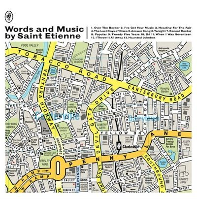 Saint Etienne - Words And Music By Saint Etienne (LP, white vinyl with black, yellow and green splatter)