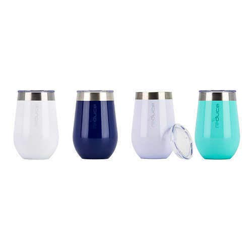 Home Stemless Vacuum Insulated Stainless Steel Tumbler Set of 4 (lids included) - Expott.com