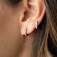 PAVOI 14K Gold Plated Cubic Zirconia Cuff Earrings Huggie Stud - Expott.com