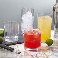 Home Classic 8-piece Premium Quality Plastic Tumblers | 4 each: 12-ounce and 16-ounce Clear - Expott.com