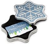 $25 Amazon Gift Card in a Snowflake Tin (Happy Holidays Card Design) - Expott.com