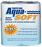 Aqua-Soft Toilet Tissue - Toilet Paper for RV and marine - 2-ply - Thetford 03300 (Pack of 4) - Expott.com