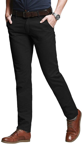 Match Men's Slim Tapered Stretchy Casual Pants - Expott.com