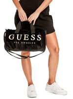Guess Women's Velvet Logo Small Duffle Bag Handbag - Expott.com
