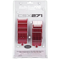 BaBylissPRO Barberology Clipper Comb Guard 8 PC Set for FXF811 RED - Expott.com