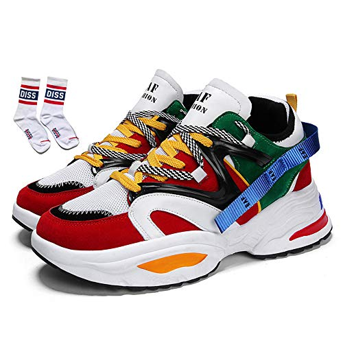 Men's Retro Color Blocked Fashion Sneakers Sport Running Shoes Walking Casual Athletic Shoes - Expott.com