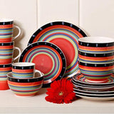 Home Gibson Home Casa Stella Dinnerware Set, Red, 16-piece - Expott.com