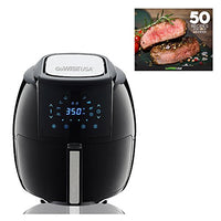 GoWISE USA GW22731 1700-Watt 5.8-QT 8-in-1 Digital Air Fryer + Recipes, Black - Expott.com