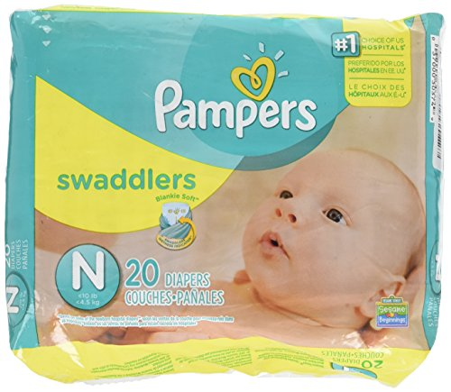Pampers Swaddlers Diapers, Newborn (Up to 10 lbs.), 20 Count - Expott.com