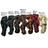 "REECHO 20"" 1-pack 3/4 Full Head Curly Wave Clips in on Synthetic Hair Extensions Hair pieces for Women 5 Clips 4.6 Oz Per Piece - Dark brown - Expott.com"