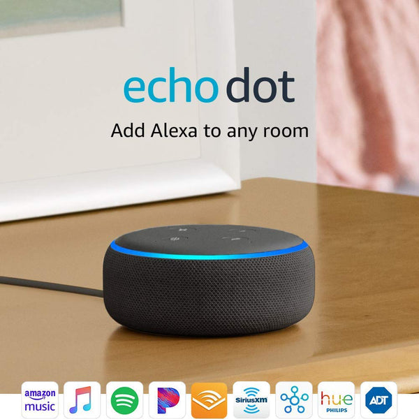 Alexa Echo Dot (3rd Gen) - Smart speaker with Alexa - Charcoal - Expott.com