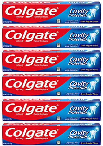 Colgate Cavity Protection Toothpaste with Fluoride -(Pack of 6)