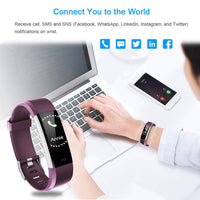 LETSCOM Fitness Tracker HR, Activity Tracker Watch with Heart Rate Monitor, Waterproof Smart Fitness Band with Step Counter, Calorie Counter, Pedometer Watch for Kids Women and Men - Expott.com