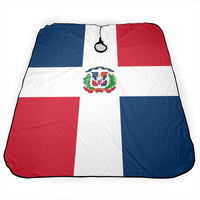 Flag Of The Dominican Republic Salon Hair Cutting Cape Cloth Barber Hairdressing Wrap Haircut Apron Cloth Styling Accessory For Unisex - Expott.com