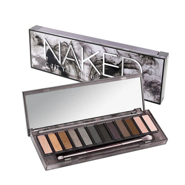 Bo ThinkMax Women Fashion 12 Colors Smoky Nude Makeup Cosmetics Eyeshadow Palette Beauty Tools - Expott.com