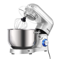Home Aucma Stand Mixer,6.5-QT 660W 6-Speed Tilt-Head Food Mixer, Kitchen Electric Mixer with Dough Hook, Wire Whip & Beater (6.5QT, Silver) - Expott.com