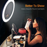 "Ring Light with Wireless Remote and iPad Holder, Pixel 19"" Bi-Color LCD Display Ring Light with Stand and Selfie Remote, 55W 3000-5800K CRI≥97 Light Ring for Vlogging Portrait Makeup Video Shooting - Expott.com"