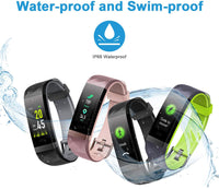 LETSCOM Fitness Tracker Color Screen, IP68 Waterproof Activity Tracker with Heart Rate Monitor, Sleep Monitor, Step Counter, Calorie Counter, Smart Pedometer Watch for Men Women Kids - Expott.com