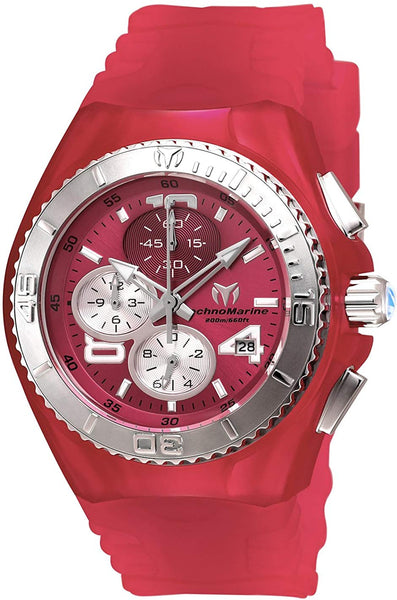 Technomarine Women's Cruise Stainless Steel Quartz Watch with Silicone Strap, Pink, 25 (Model: TM-115107) - Expott.com