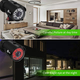 XVIM 1080P Home Security Camera System 4CH CCTV DVR Recorder 4pcs Full HD 1080P 1920TVL Indoor Outdoor Waterproof Surveillance Cameras Night Vision, Motion Alert, Easy Remote Access (No Hard Drive) - Expott.com