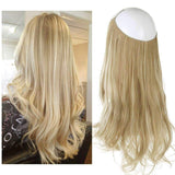 "SARLA 14"" 16"" 18"" 4.3oz Synthetic Wavy Halo Hair Extension Natural Hairpieces No Clip No Glue No Tape M01 (18"" wave,#16H613 Dirty Blonde) - Expott.com"