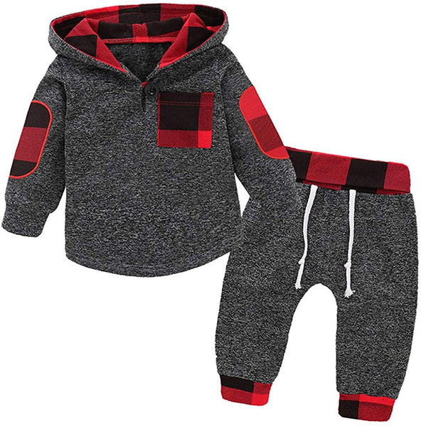 Toddler Baby Boys Girls Stylish Plaid Floral Pocket Hooded Coat,Kids Jackets Stretchy Cloak Tops Clothes - Expott.com