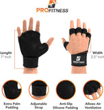 ProFitness Cross Training Gloves with Wrist Support Non-Slip Palm Silicone Padding to Avoid Calluses | for Weight Lifting, WOD, Powerlifting & Gym Workouts | Ideal for Both Men & Women - Expott.com