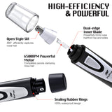 Ear and Nose Hair Trimmer Clipper - 2019 Professional Painless Eyebrow and Facial Hair Trimmer for Men and Women, Battery-Operated, IPX7 Waterproof Dual Edge Blades for Easy Cleansing(Black) - Expott.com