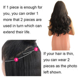 ReechoCurly Wave Clips in on Synthetic Hair Extensions