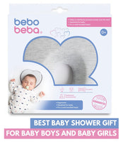 Newborn Baby Head Shaping Pillow | Memory Foam Cushion for Flat Head Syndrome Prevention | Prevent Plagiocephaly | Best Perfect for Baby Boy & Girl (Grey) - Expott.com