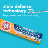Arm & Hammer Advance White Extreme Whitening with Stain Defense, Fresh Mint, 6 oz Twin Pack (Packaging May Vary) - Expott.com