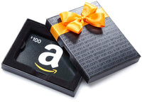 $100 Amazon Gift Card in a Black Gift Box (Classic Black Card Design) - Expott.com
