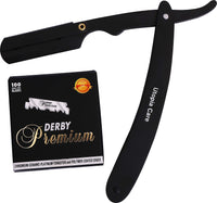 Professional Barber Straight Edge Razor Safety with 100-Pack Derby Blades - 100 Percent Stainless Steel - by Utopia Care - Expott.com
