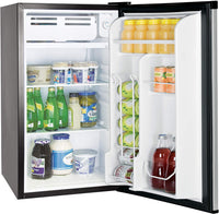 Home RCA RFR322-B 3.2 Cu Ft Single Door Mini Fridge with Freezer RFR322, Platinum, Stainless Steel - Expott.com