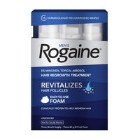 Men's Rogaine 5% Minoxidil Foam for Hair Loss and Hair Regrowth, Topical Treatment for Thinning Hair, 3-Month Supply - Expott.com