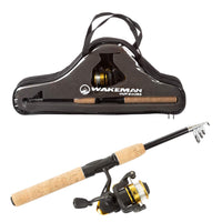 Wakeman Ultra Series Telescopic Spinning Rod and Reel Combo - Expott.com
