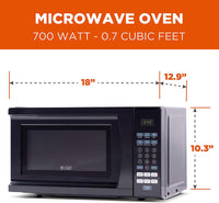 Home Commercial Chef CHM770B Countertop Microwave, 0.7 Cubic Feet, Black - Expott.com