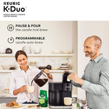 Keurig K-Duo Coffee Maker, Single Serve and 12-Cup Carafe Drip Coffee Brewer, Compatible with K-Cup Pods and Ground Coffee, Black - Expott.com