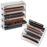 byAlegory Acrylic Bo Medium Eyeshadow Palette Makeup Organizer W/ Removable Dividers Designed To Stand & Lay Flat | 8 Space Organization Container Storage - Fits Standard Size Palettes - Clear - Expott.com