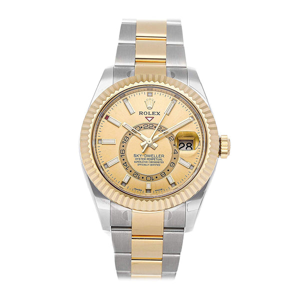 Rolex Sky-Dweller Mechanical (Automatic) Champagne Dial Mens Watch 326933 (Certified Pre-Owned) - Expott.com