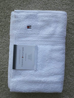 "Tommy Hilfiger All American II Bath Towel 27"" X 52"", White, 100% Cotton - Expott.com"