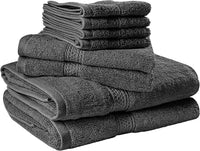 Utopia Towels 8 Piece Towel Set, Grey, 2 Bath Towels, 2 Hand Towels, and 4 Washcloths - Expott.com