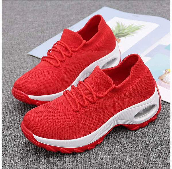 SOOTOP Women's Athletic Running Sneakers Casual Lightweight Breathable Fashion Air Fitness Sport Workout Gym Tennis Walking Shoes Comfort Fashion Slip On Flat Sneakers - Expott.com