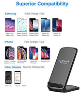 NANAMI Upgraded Fast Wireless Charger Fast Wireless Charging Stand Compatible Samsung Galaxy S10+/S9/S8/S7 Edge/Note 10/9/8 & Qi Charger Compatible iPhone 11/11 Pro/11 Pro Max/XR/XS Max/XS/X/8/8 Plus - Expott.com