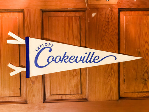 Cookeville Pennant • Cream & Royal  • OXFORD PENNANT ORIGINAL