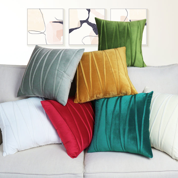 Soft Velvet Throw Pillow Cover-For All Pockets