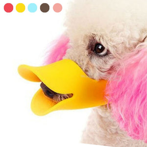 Dog Muzzle Silicone Cute Duck - For All Pockets